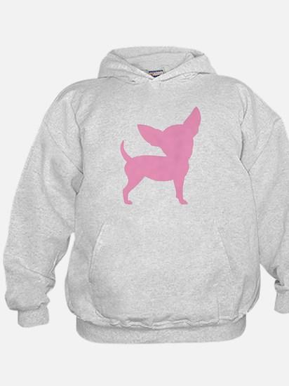 Pink Funny Cute Chihuahua Hoody