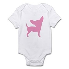 Pink Funny Cute Chihuahua Infant Bodysuit