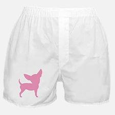 Pink Funny Cute Chihuahua Boxer Shorts