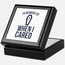 In Memory Of Wen I Cared Keepsake Box