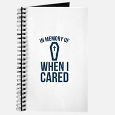 In Memory Of Wen I Cared Journal