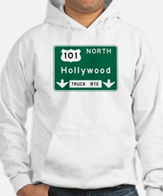Hollywood, CA Road Sign, USA Hoodie