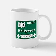 Hollywood, CA Road Sign, USA Mug
