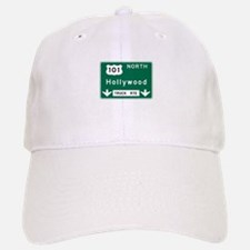 Hollywood, CA Road Sign, USA Baseball Baseball Cap