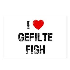 I * Gefilte Fish Postcards (Package of 8)
