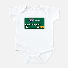 LAX Airport, Los Angeles, CA Road Infant Bodysuit