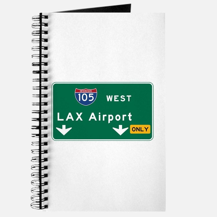 LAX Airport, Los Angeles, CA Road Sign, US Journal