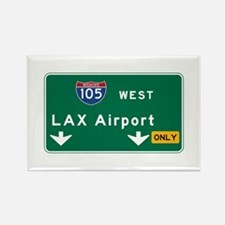 LAX Airport, Los Angeles, CA Road Rectangle Magnet