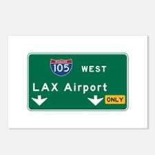 LAX Airport, Los Angeles, Postcards (Package of 8)