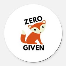 Zero Fox Given Round Car Magnet