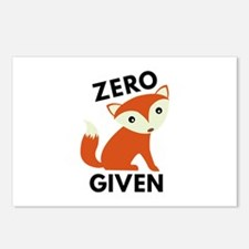 Zero Fox Given Postcards (Package of 8)