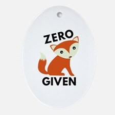 Zero Fox Given Ornament (Oval)