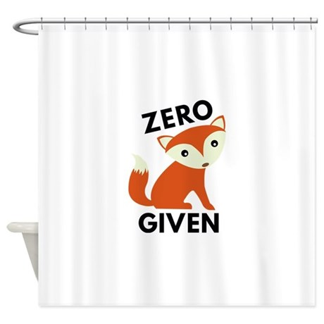 Zero Fox Given Shower Curtain by VectorPlanet
