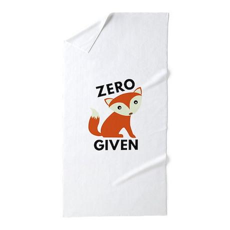 Zero Fox Given Beach Towel by VectorPlanet