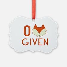 Zero Fox Given Ornament