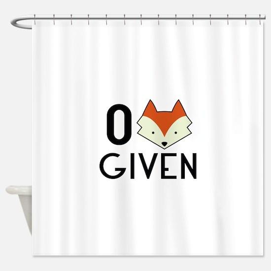 Zero Fox Given Shower Curtain