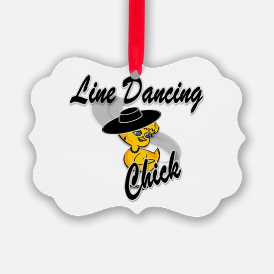 Line Dancing Chick #4 Ornament