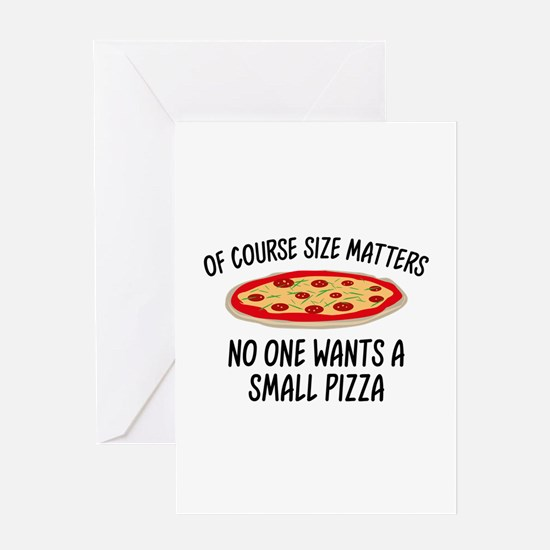Of Course Size Matters Greeting Card