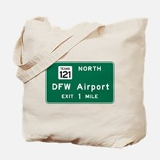 DFW Airport, Dallas-Fort Worth, TX Road S Tote Bag