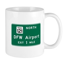DFW Airport, Dallas-Fort Worth, TX Road Mug