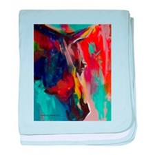 Graffiti This, Horse Abstract Pop Art baby blanket