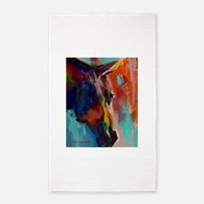 Graffiti This, Horse Abstract Pop Art Pai Area Rug