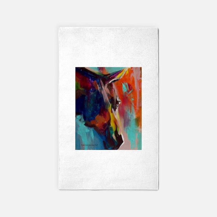 Graffiti This, Horse Abstract Pop Art Pai Area Rug