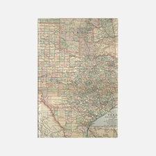 Cartography map Rectangle Magnet