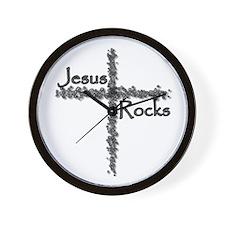 Jesus Rocks Christian Wall Clock