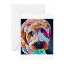 Wheaten Terrier Kirby Jane Greeting Cards