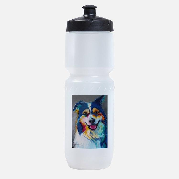 Maggie the Border Collie, Aussie, Au Sports Bottle