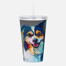 Maggie the Border Coll Acrylic Double-wall Tumbler