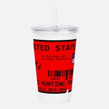Isis Hunting Permit Acrylic Double-wall Tumbler