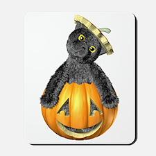 Halloween Jack-'O-Lantern Cat Mousepad