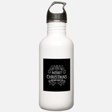 Merry Christmas Hand D Water Bottle