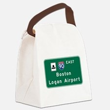 Boston Logan Airport, MA Road Sig Canvas Lunch Bag