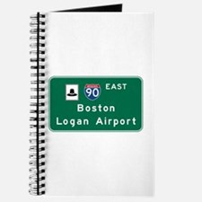 Boston Logan Airport, MA Road Sign, USA Journal