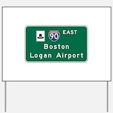 Boston Logan Airport, MA Road Sign, USA Yard Sign