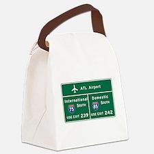 Atlanta Airport, GA Road Sign, US Canvas Lunch Bag