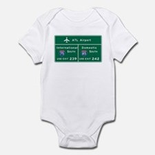Atlanta Airport, GA Road Sign, USA Infant Bodysuit