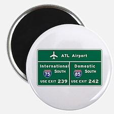 """Atlanta Airport, GA Road S 2.25"""" Magnet (100 pack)"""