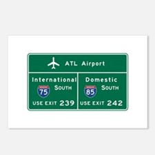 Atlanta Airport, GA Road Postcards (Package of 8)