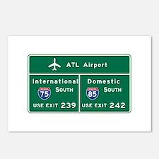 Atlanta Airport, GA Road Postcards (Package of 8)