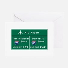 Atlanta Airport, GA Road Greeting Cards (Pk of 10)