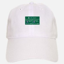 Atlanta Airport, GA Road Sign, USA Baseball Baseball Cap