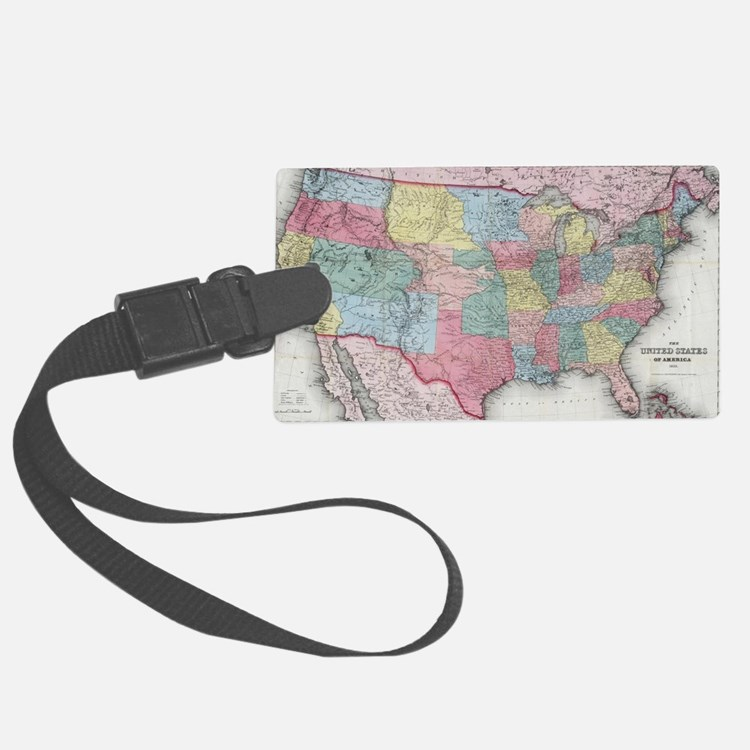 Cute Us map Luggage Tag