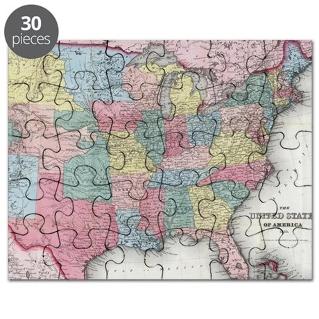 USA Magnetic Puzzle Map United States Physical Map Interactive - Us states map puzzle
