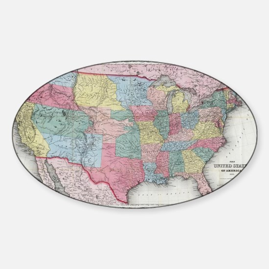 Us Map Bumper Stickers Car Stickers Decals More - Cute us map