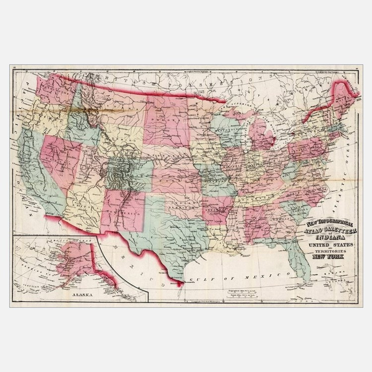 United States Map Rv Wall Art