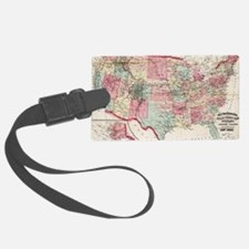 Unique Us map Luggage Tag